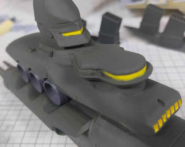 3Dプリンター ムサイ改型ワルキューレ 製作日誌(49日目)艦橋部分の塗り分け