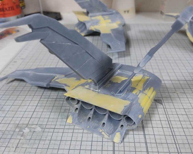 3Dプリンター ムサイ改型ワルキューレ 製作日誌(50日目)機関部分の組立て