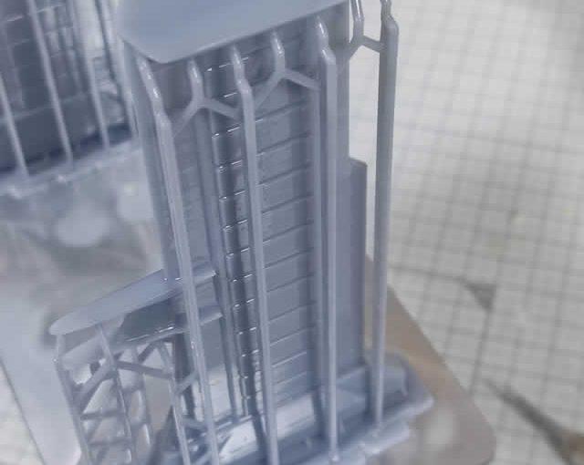 3Dプリンター ムサイ改型ワルキューレ 製作日誌(51日目)艦橋接続パーツの再印刷(其の壱)