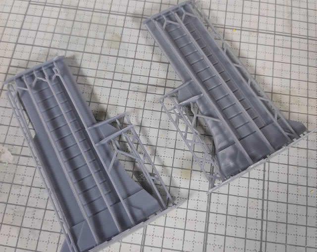 3Dプリンター ムサイ改型ワルキューレ 製作日誌(53日目)艦橋接続パーツの再印刷(其の弐)