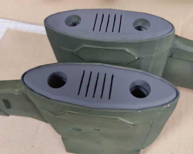 3Dプリンター ムサイ改型ワルキューレ 製作日誌(57日目)機関パーツの塗り分け