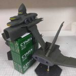 3Dプリンター ムサイ改型ワルキューレ 製作日誌(59日目)機関パーツの組立て