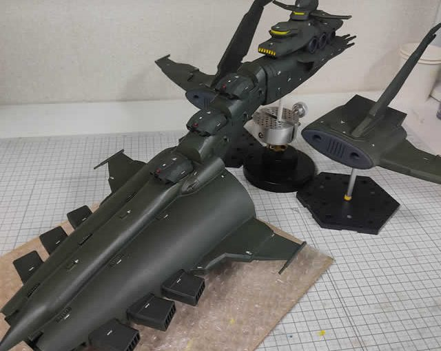 3Dプリンター ムサイ改型ワルキューレ 製作日誌(63日目)船首パーツのデカール貼り