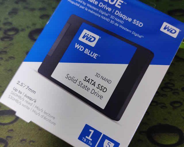 WesternDigital Blue SSD(WDS100T2B0A-EC) 開封とベンチマーク