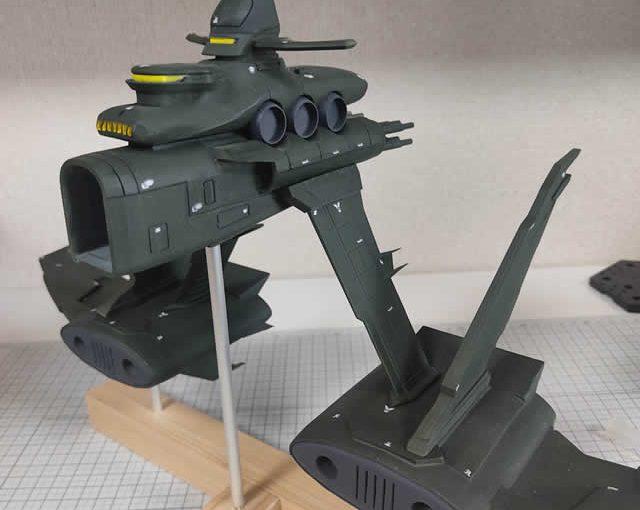 3Dプリンター ムサイ改型ワルキューレ 製作日誌(67日目)台座の作製