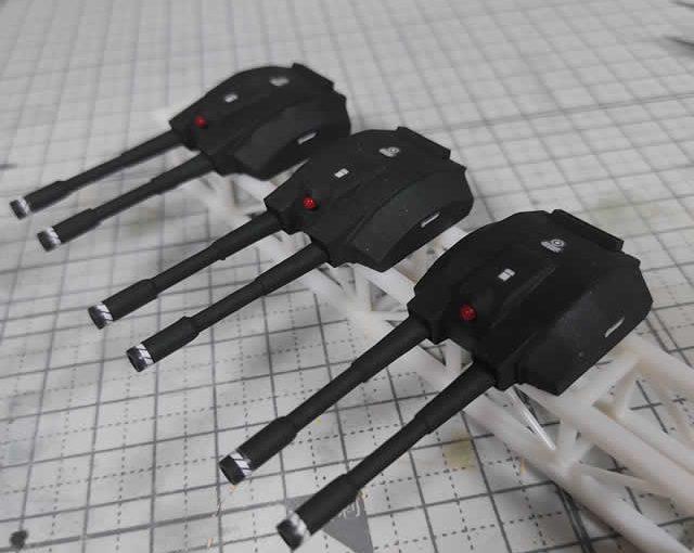 3Dプリンター ムサイ改型ワルキューレ 製作日誌(68日目)メガ粒子砲の組立て