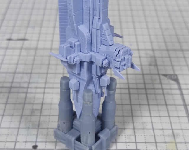 EXモデル サラミス 製作日誌(3日目)二段目ブースターの仮組み